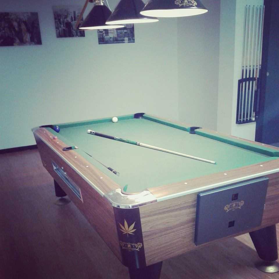 cannabis pool table