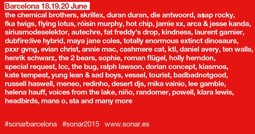 Sonar 2015 Barcelona